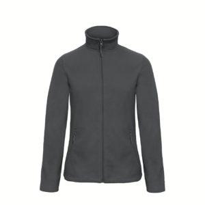 B&C-Ladies-Micro-Fleece-Full-Zip-Naisten-Fleece-Takki-tummanharmaa