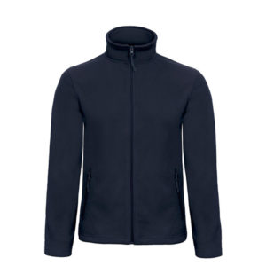 B&C-Micro-Fleece-Full-Zip-miesten-fleece-takki-navy-sininen