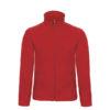 B&C-Micro-Fleece-Full-Zip-miesten-fleece-takki-punainen