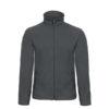 B&C-Micro-Fleece-Full-Zip-miesten-fleece-takki-tummanharmaa