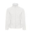 B&C-Micro-Fleece-Full-Zip-miesten-fleece-takki-valkoinen