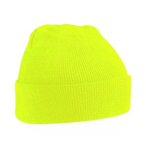 beechfield-junior-original-cuffed-beanie-fluorescent-yellow