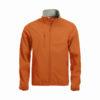 clique-basic-softshell-jacket-miesten-softshell-takki-veriappelsiini