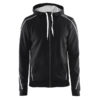 Craft-In-the-zone-Full-Zip-Hood-M-miesten-vetoketjullinen-huppari-black-white-grey-melange