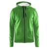 Craft-In-the-zone-Full-Zip-Hood-M-miesten-vetoketjullinen-huppari-craft-green-black-grey-melange