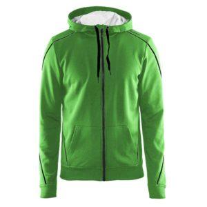 Craft-In-the-zone-Full-Zip-Hood-M-miesten-vetoketjullinen-huppari-craft-green-black-grey-melange