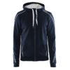 Craft-In-the-zone-Full-Zip-Hood-M-miesten-vetoketjullinen-huppari-dk-navy-white-grey-melange