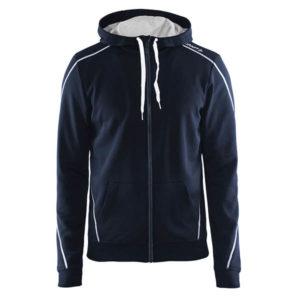 Craft-In-the-zone-Full-Zip-Hood-M-miesten-vetoketjullinen-huppari-dk-navy-white-grey-melange