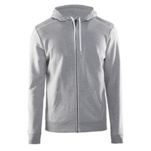 Craft-In-the-zone-Full-Zip-Hood-M-miesten-vetoketjullinen-huppari-grey-melange-white