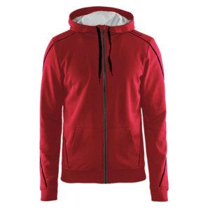 Craft-In-the-zone-Full-Zip-Hood-M-miesten-vetoketjullinen-huppari-kirkkaanpunainen