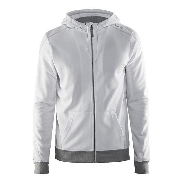 Craft-In-the-zone-Full-Zip-Hood-M-miesten-vetoketjullinen-huppari-white-platinum-grey-melange