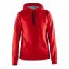 Craft-In-the-zone-Hood-F-naisten-huppari-bright-red-black-grey-melange