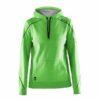 Craft-In-the-zone-Hood-F-naisten-huppari-green-craft-black-grey