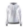 Craft-In-the-zone-Hood-F-naisten-huppari-white-platinum-grey-melange