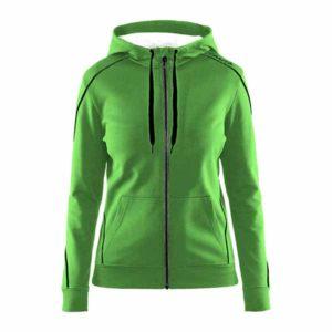 Craft-in-the-zone-Full-Zip-Hood-W-naisten-vetoketjullinen-huppari-craft-green-black-grey-melange