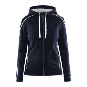 Craft-in-the-zone-Full-Zip-Hood-W-naisten-vetoketjullinen-huppari-dk-navy-white-grey-melange