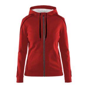 Craft-in-the-zone-Full-Zip-Hood-W-naisten-vetoketjullinen-huppari-kirkkaanpunainen