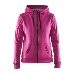 Craft-in-the-zone-Full-Zip-Hood-W-naisten-vetoketjullinen-huppari-smoothie-pop-grey-melange