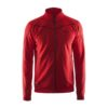 Craft-in-the-zone-Sweatshirt-M-miesten-vetoketjullinen-collegepaita-bright-red-black
