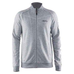 Craft-in-the-zone-Sweatshirt-M-miesten-vetoketjullinen-collegepaita-grey-melange