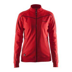 Craft-in-the-zone-Sweatshirt-W-naisten-vetoketjullinen-collegepaita-bright-red-black