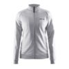 Craft-in-the-zone-Sweatshirt-W-naisten-vetoketjullinen-collegepaita-grey-melange-white-black