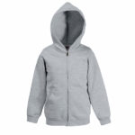Fruit-Of-The-Loom-Classic-Hooded-Sweat-Kids-lasten-vetoketjullinen-huppari-heather-grey-harmaa