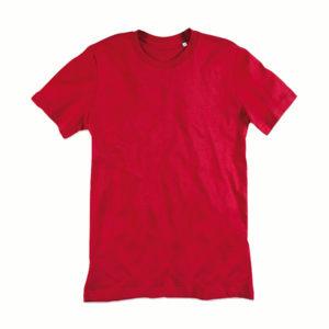 Stedman-ST9200-James-Organic-Crew-Neck-Luomu-puuvilla-t-paita-Pepper-red-punainen
