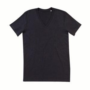 Stedman-ST9210-James-Organic-V-neck-miesten-v-aukkoinen-t-paita-Black-opal-musta