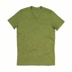 Stedman-ST9210-James-Organic-V-neck-miesten-v-aukkoinen-t-paita-Earth-green-vihreä