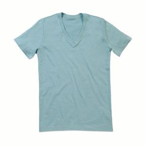 Stedman-ST9210-James-Organic-V-neck-miesten-v-aukkoinen-t-paita-Frosted-blue-sininen