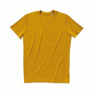 Stedman-ST9210-James-Organic-V-neck-miesten-v-aukkoinen-t-paita-Indian-yellow-keltainen