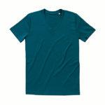 Stedman-ST9210-James-Organic-V-neck-miesten-v-aukkoinen-t-paita-Pacific-blue-sininen