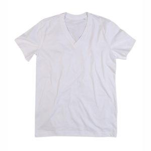 Stedman-ST9210-James-Organic-V-neck-miesten-v-aukkoinen-t-paita-White-valkoinen