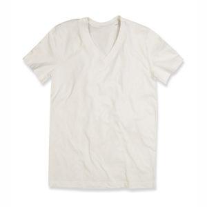 Stedman-ST9210-James-Organic-V-neck-miesten-v-aukkoinen-t-paita-Winter-white-beige