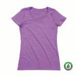 Stedman-ST9300-Janet-Organic-Crew-Neck-naisten-luomu-puuvilla-t-paita-Lavender-purple-violetti-tuotekuva