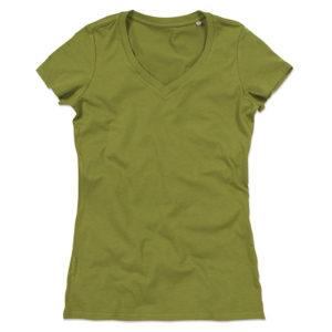 Stedman-ST9310-Janet-Organic-V-Neck-naisten-v-aukkoinen-t-paita-Earth-green-vihreä