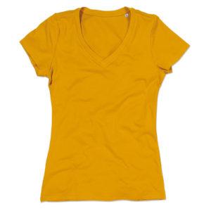 Stedman-ST9310-Janet-Organic-V-Neck-naisten-v-aukkoinen-t-paita-Indian-yellow-keltainen