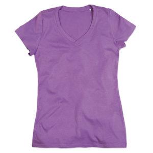 Stedman-ST9310-Janet-Organic-V-Neck-naisten-v-aukkoinen-t-paita-Lavender-purple-violetti