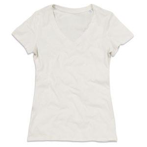 Stedman-ST9310-Janet-Organic-V-Neck-naisten-v-aukkoinen-t-paita-Winter-white-beige