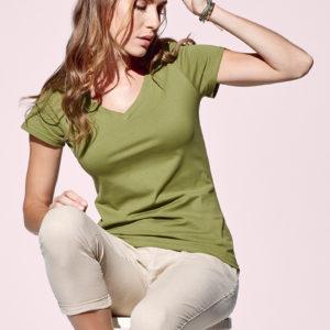 Stedman-ST9310-Janet-Organic-V-Neck-naisten-v-aukkoinen-t-paita-kuva1