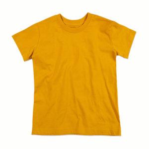 Stedman-ST9370-Jamie-Organic-Crew-Neck-Lasten-luomupuuvilla-t-paita-Indian-Yellow-keltainen