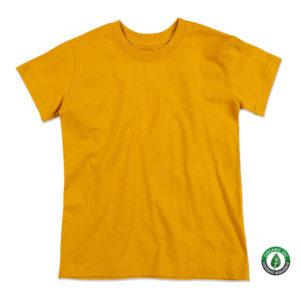 Stedman-ST9370-Jamie-Organic-Crew-Neck-Lasten-luomupuuvilla-t-paita-Indian Yellow-keltainen- tuotekuva copy