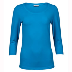 Tee-Jays-Ladies-3-4-Sleeve-Stretch-Tee-naisten-paita-azure