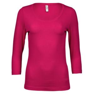 Tee-Jays-Ladies-3-4-Sleeve-Stretch-Tee-naisten-paita-hot-pink