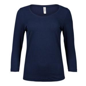 Tee-Jays-Ladies-3-4-Sleeve-Stretch-Tee-naisten-paita-navy