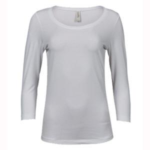 Tee-Jays-Ladies-3-4-Sleeve-Stretch-Tee-naisten-paita-white