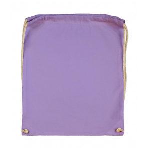 Cotton-Drawstring-Backbag-Puuvilla-Reppu-Lavendel