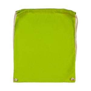 Cotton-Drawstring-Backbag-Puuvilla-Reppu-Lime