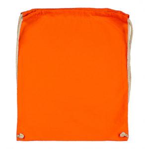 Cotton-Drawstring-Backbag-Puuvilla-Reppu-Tangerine
